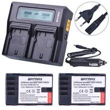 2 pièces 1860 MaH DMW-BLF19 DMW-BLF19E DMW-BLF19PP BLF19 BLF19E Batterie + Rapide LCD Double Chargeur pour Panasonic Lumix GH3 GH4 GH5 G9