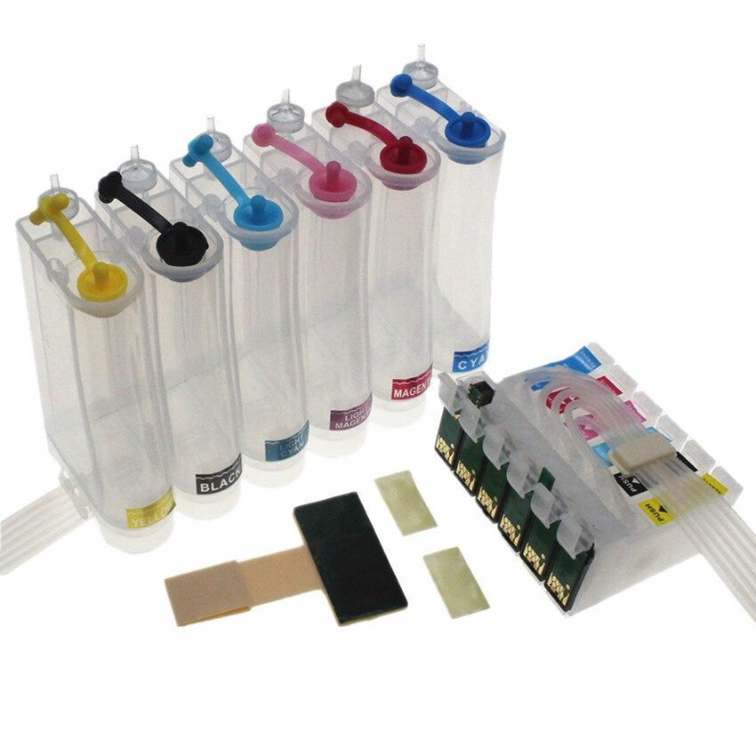 T0981-T0986 Система непрерывной подачи чернил для Epson Artisan 600/700/710/730/800/810/725/835/837