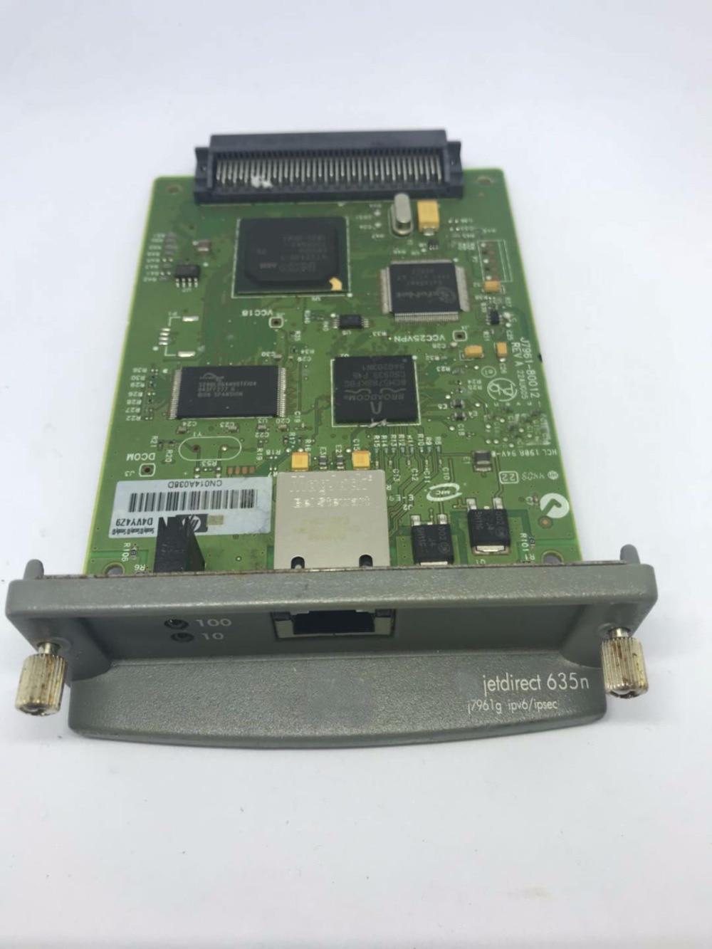 Para hp jetdirect 635n j7961g impressora interna placa de rede ipv6/gigabit impressora a laser