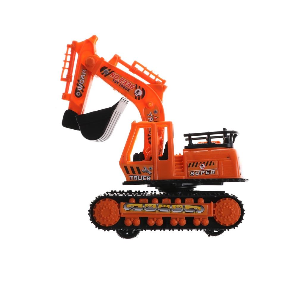 1 Uds. Excavadora de gran tamaño de plástico, modelo de alta simulación, máquina de excavación de ingeniería naranja, juguetes para niños de 12cm * 6,2 cm * 14cm