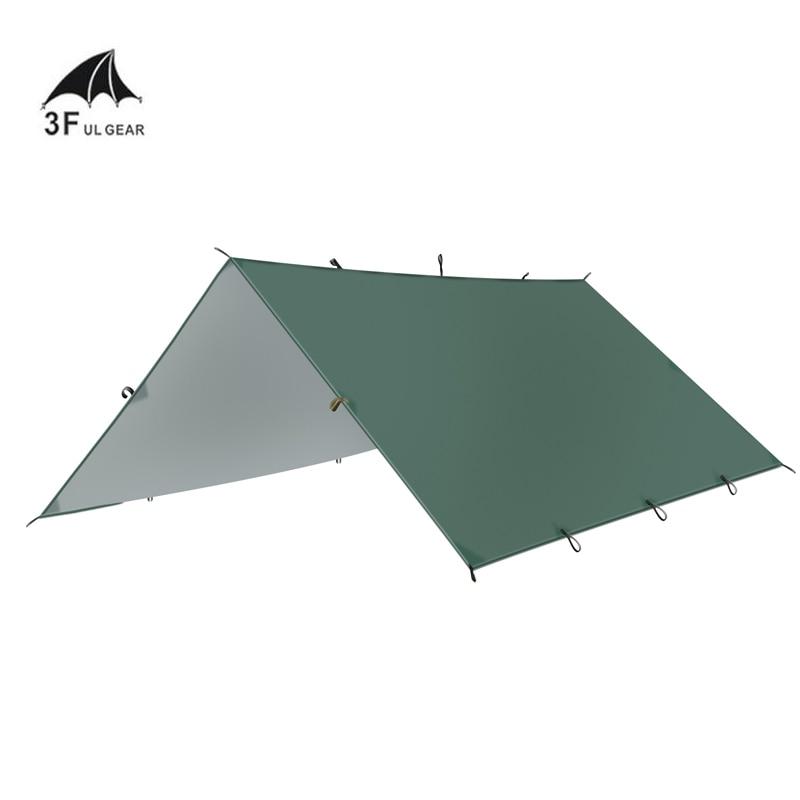 3F UL GEAR Сверхлегкий брезент для отдыха на природе, для выживания, солнцезащитный тент, тент с серебряным покрытием, водостойкая Пляжная палат...