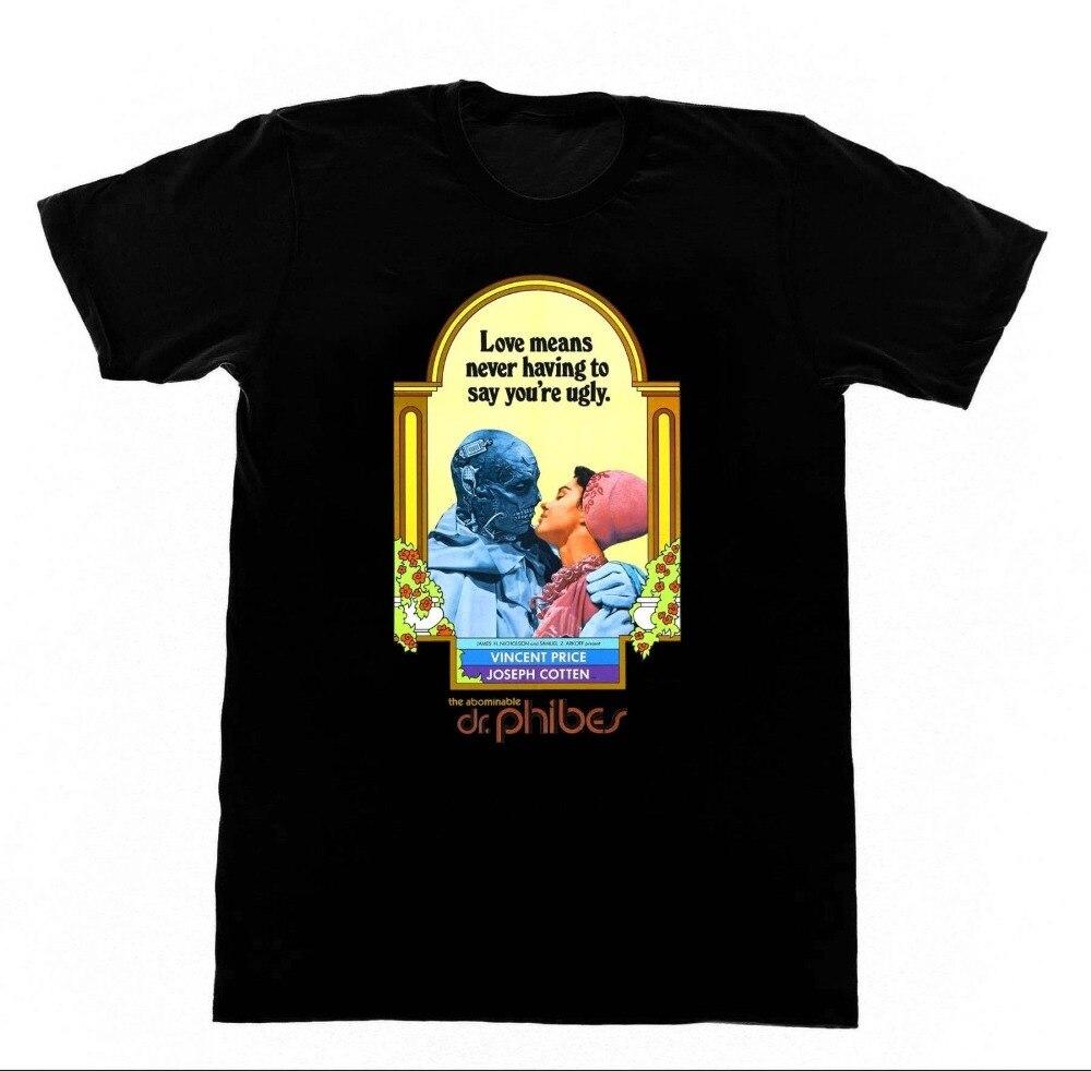 Camisetas divertidas para hombre, camiseta de Dr Phibes, aboculada, 83, camiseta de película de terror de culto, camisetas clásicas con manga a precio de Vincent para hombre