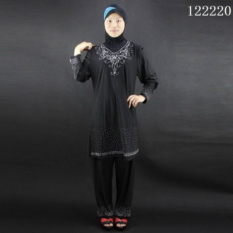 Guranteed quality indian clothing Crystal cotton kurta Hot fix rhinestone lehenga 2 piece suit salwar kameez for sale 122220