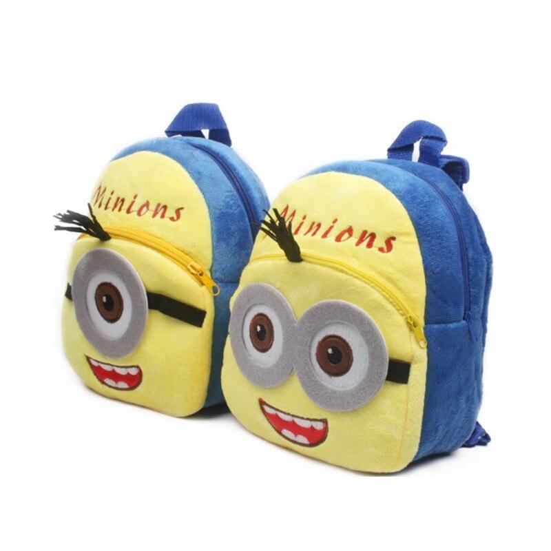 1-3 years Plush Backpacks New Soft Cartoon Cute Minions Children Mini Baby Boy Girl School Bag For Kindergarten Shoulder Bags
