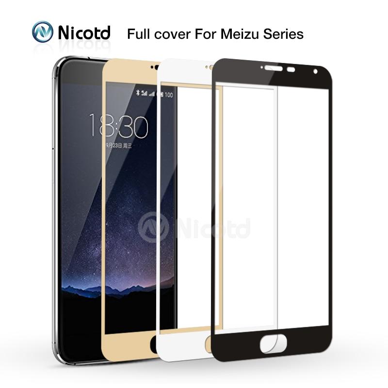 Nicotd Full Cover Tempered Glass for Meizu M3s Mini M5 Note M3X Screen Protector For Meilan M3 Note M3E MX6 Pro 5 6 Plus U10 U20 недорого