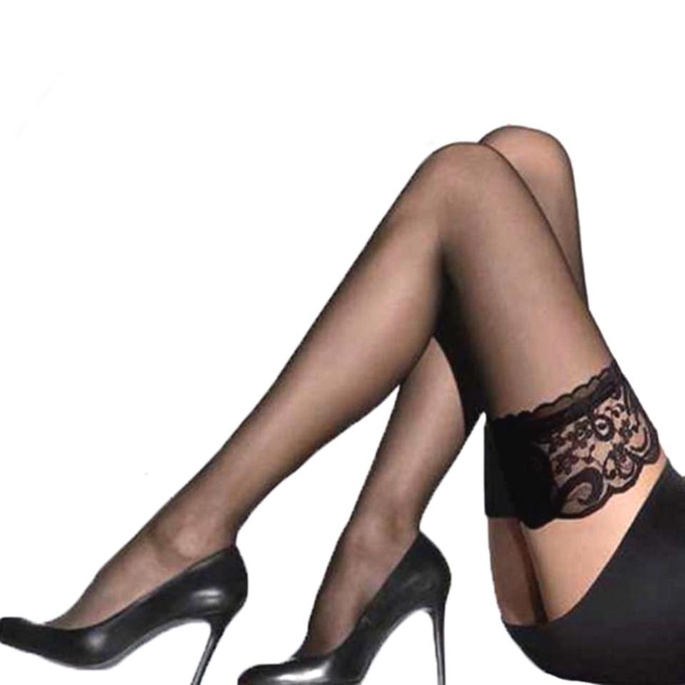 Женские прозрачные сексуальные чулки кружевной верх чулки выше колена чулки для ночного клуба колготки Calcetines
