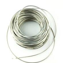 Fil blindé tressé en cuivre sans oxygène PTFE pour guitare électrique basse par mètre (#0056) fabriqué en corée