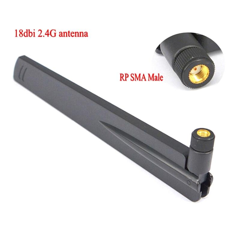 1 PC LTE 4G 3G 18 Dbi 2.4 Ghz WIFI Antenne RP SMA mâle universel antennes amplificateur WLAN routeur Antenne connecteur Booster
