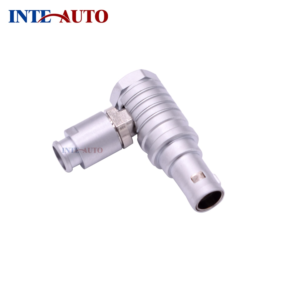Elbow Cable plug,4 pins circular push pull self-locking male connector, FTHG.1B.304