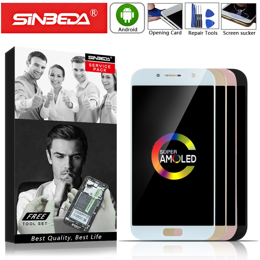 "Super AMOLED 5,2 ""piezas de reparación para Samsung Galaxy A5 2017 a520 reemplazo del digitalizador de pantalla táctil LCD de SM-A520F montaje #"