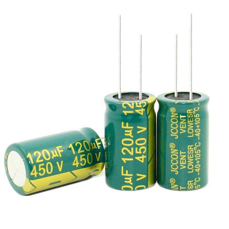 Nowa oryginalna wysoka częstotliwość i niska oporność 450V 120UF 120UF 450V pojemność kondensatora elektrolitycznego 18*30MM najlepsza jakość