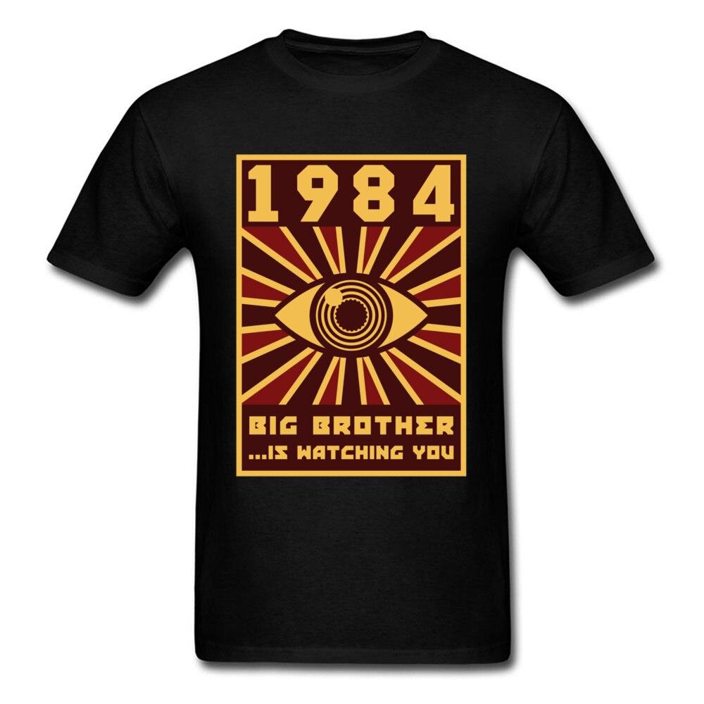 1984 Big Brother T-shirt Männer Schwarz Tops Grafik T-shirt Horus Eye Kleidung Vintage Tees 80s T Shirts Lustige Hipster streetwear