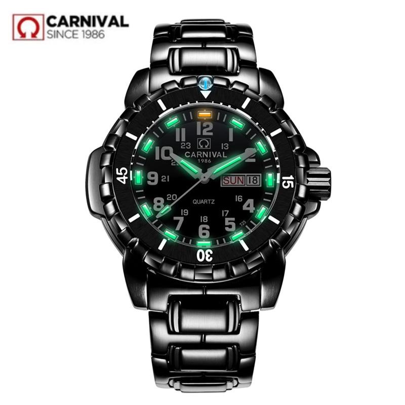 Водонепроницаемые часы для дайвинга в стиле милитари, 200 м, мужские часы с подсветкой из трития, роскошный бренд, швейцарский Ronda, кварцевые м...