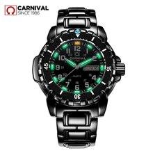 Étanche 200M militaire plongée montres hommes T25 tritium lumineux marque de luxe suisse Ronda quartz hommes montre pleine acier saat