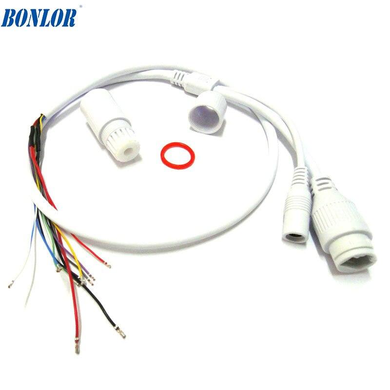 (10 uds) cable POE LAN impermeable de alta calidad para Módulo de placa de cámara IP CCTV con conector resistente a la intemperie para envío gratis