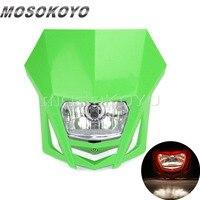MX Enduro Headlight Pit Dirt Bike Front Lights for Kawasaki KLX150 KX65 KX85 Dual Sport Head Light