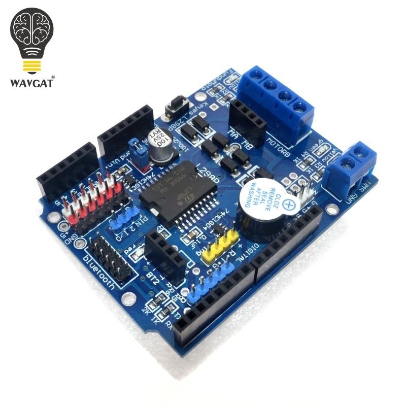 WAVGAT L298P PWM Speed Controller Dual High-Power H-bridge Driver ,Bluetooth Interface, L298P Motor Shield Board for Arduino