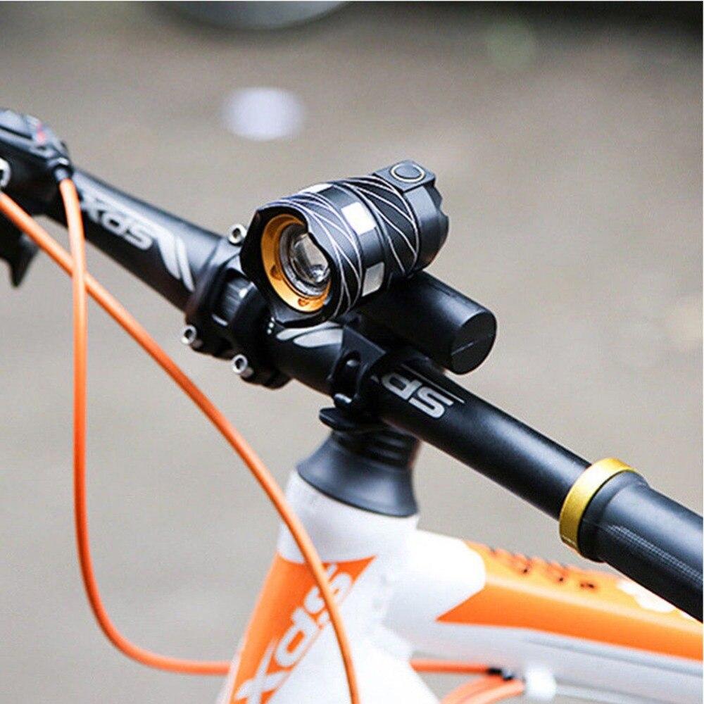 Faros de bicicleta ajustables T6 USB recargable a prueba de agua linterna de bicicleta MTB Faro de bicicleta equipo de ciclismo luces de bicicleta