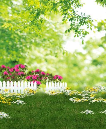 LIFE MAGIC BOX 150X200Cm fondos de vinilo para fotografía valla blanca hojas verdes con flores fondo fotográfico Cm-5636