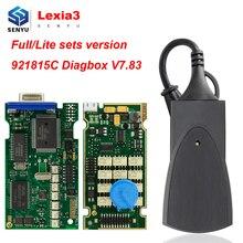 Lexia 3 PP2000 Citroen/Peugeot Lexia3 PP 2000 Diagbox V7.83 921815C OBD2 tarayıcı PSA OBD OBD2 araba teşhis otomatik aracı