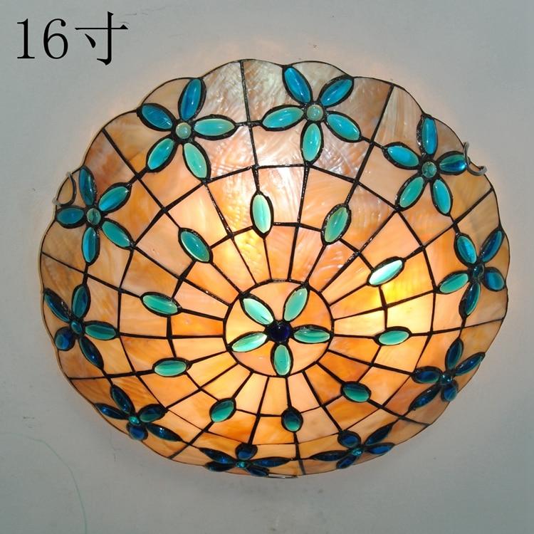 Lámpara de techo clásica de 16 pulgadas Lila, lámpara de barra de escalera de concha