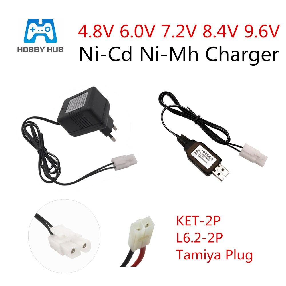 Carregador de 4.8 v 6.0 v 7.2 v 8.4 v 9.6 v para a entrada de bateria de nicd nimh 100 v-240 v com tamiya Kep-2p carregador da tomada para o carregador dos brinquedos 7.2 v do rc