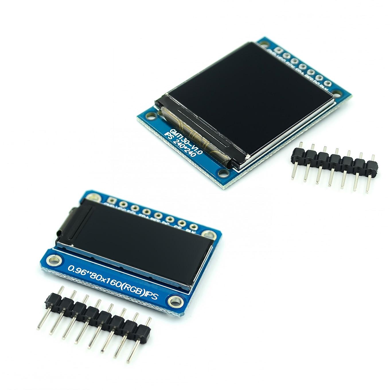 Tft display 0.96 / 1.3 polegada ips 7 p spi hd 65 k módulo lcd a cores completas st7735 drive ic 80*160 (não oled) para arduino