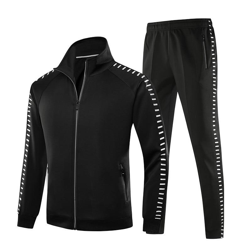 الرجال مجموعة ملابس رياضية جديدة ربيع الخريف ملابس الرجال الركض مجموعات الرياضة دعوى سترة بانت الذكور كامل دعوى رياضية