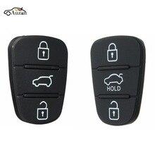3 кнопки дистанционного ключа Fob чехол резиновая накладка для Hyundai I10 I20 I30 флип-ключ чехол для автомобиля