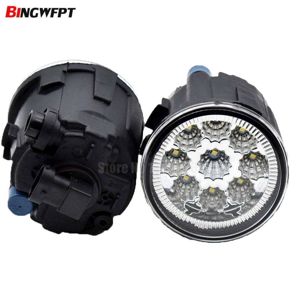 261508993B 261508992B luz antiniebla 9LED luz diurna DRL para Nissan Cube Juke Infiniti EX35 EX37 QX50 FX35 halógeno