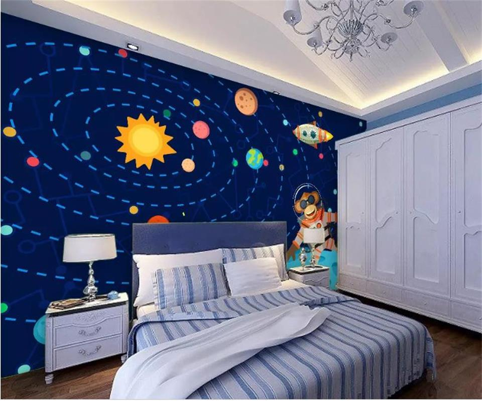 Papel pintado personalizado 3D foto Mural salón sofá TV telón de fondo papel pintado Dream universo estrella dibujos animados papel tapiz decoración del hogar