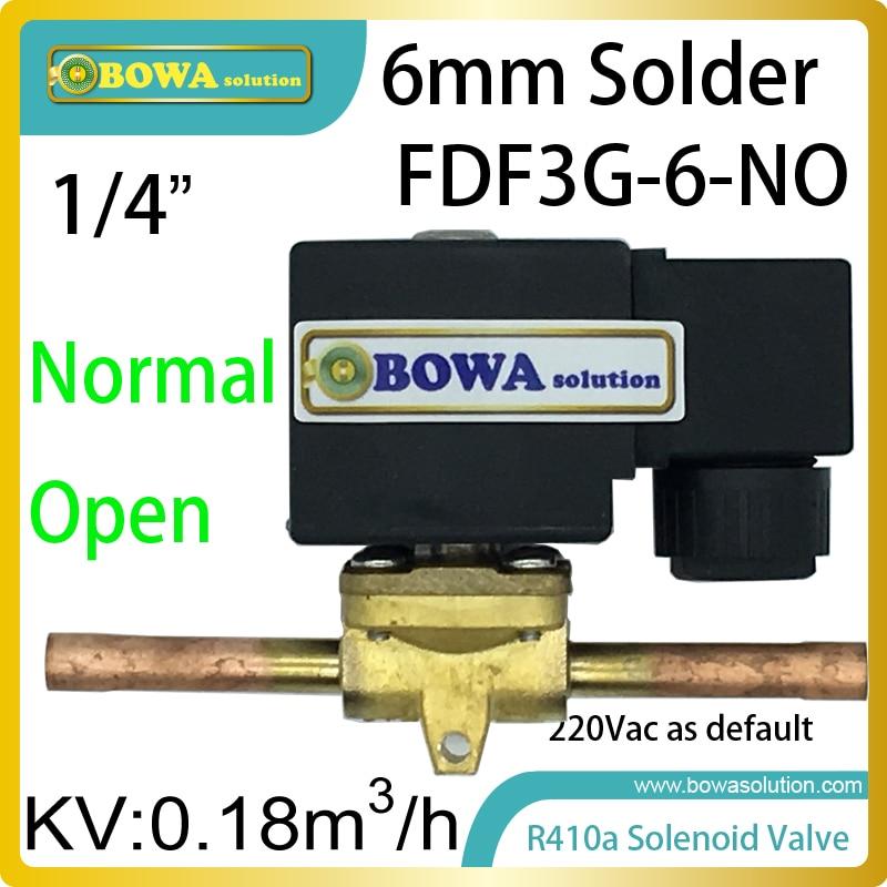 """1/4 """"normal aberto válvula solenóide com conexões de solda é instalado na sucção ou líquido quente degelo dutos em refrigeração"""