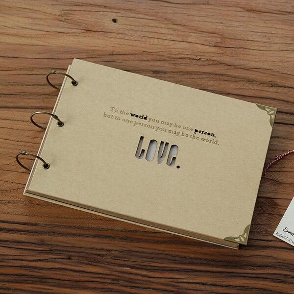Livre Transferência DIY album AMOR Café Loja Restrant tipo pasta manual Polaroid álbum de fotos do bebê fina sombra na Coréia Do Sul fazer ODM