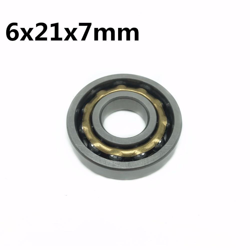 1 шт., магнитный подшипник 6x21x7 мм, угловой контакт, Раздельный постоянный двигатель, шариковые подшипники E6 FB6 A6 ND6 T6 M6 EN6 N6