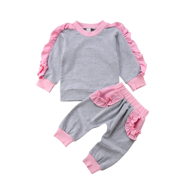 Осень 2018 комплект из 2 предметов для маленьких девочек детские рубашки с длинными