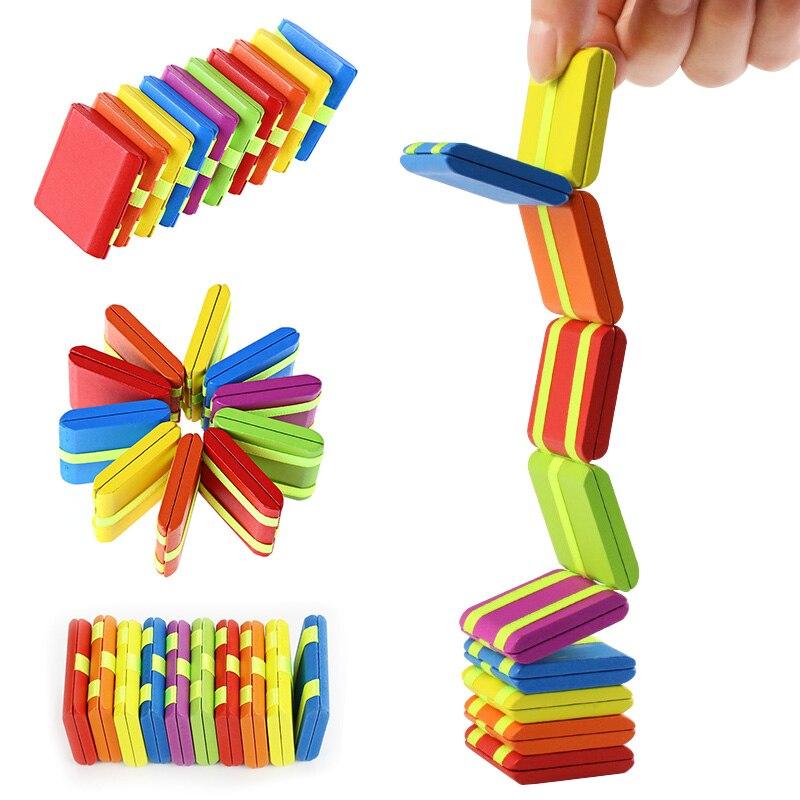 20 piezas bloques de madera para niños juguetes educativos mágicos tablero de solapa colorido ejercicio juego de coordinación mano-ojo