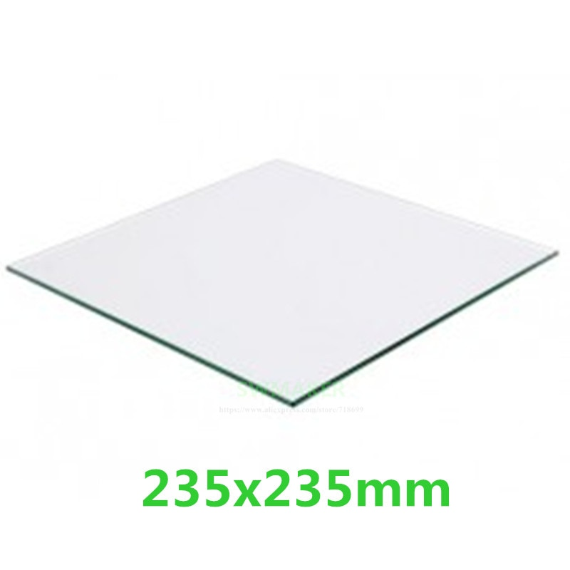 Creality Ender-3 235x235 مللي متر 3/4 مللي متر سمك البورسليكات الزجاج 3D طابعة بناء بورو طبق من الزجاج