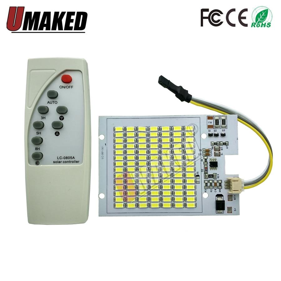 Reflector solar LED de 50 W, luz de carretera, fuente de luz led de 50W con controlador para reflector