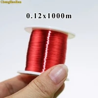 chenghaoran 0 12 mm red new polyurethane enamelled round winding wire enameled wire qa 1 155