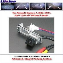 Caméra de recul intelligente pour Renault Espace 4   2003 ~ 2014, vue arrière/voies de guidage dynamique, caméra