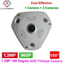 Lihmsek-caméra de vidéosurveillance intelligente   Sécurité, Style vie intelligente, 1,3 mp, 960P, 180 degrés, grand Angle, AHD Fisheye, avec Lihmsek
