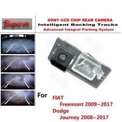 Para fiat freemont, câmera de estacionamento para dodge jornada 2008 ~ 2017 ccd, orientação dinâmica, câmera traseira câmera fotográfica para câmera