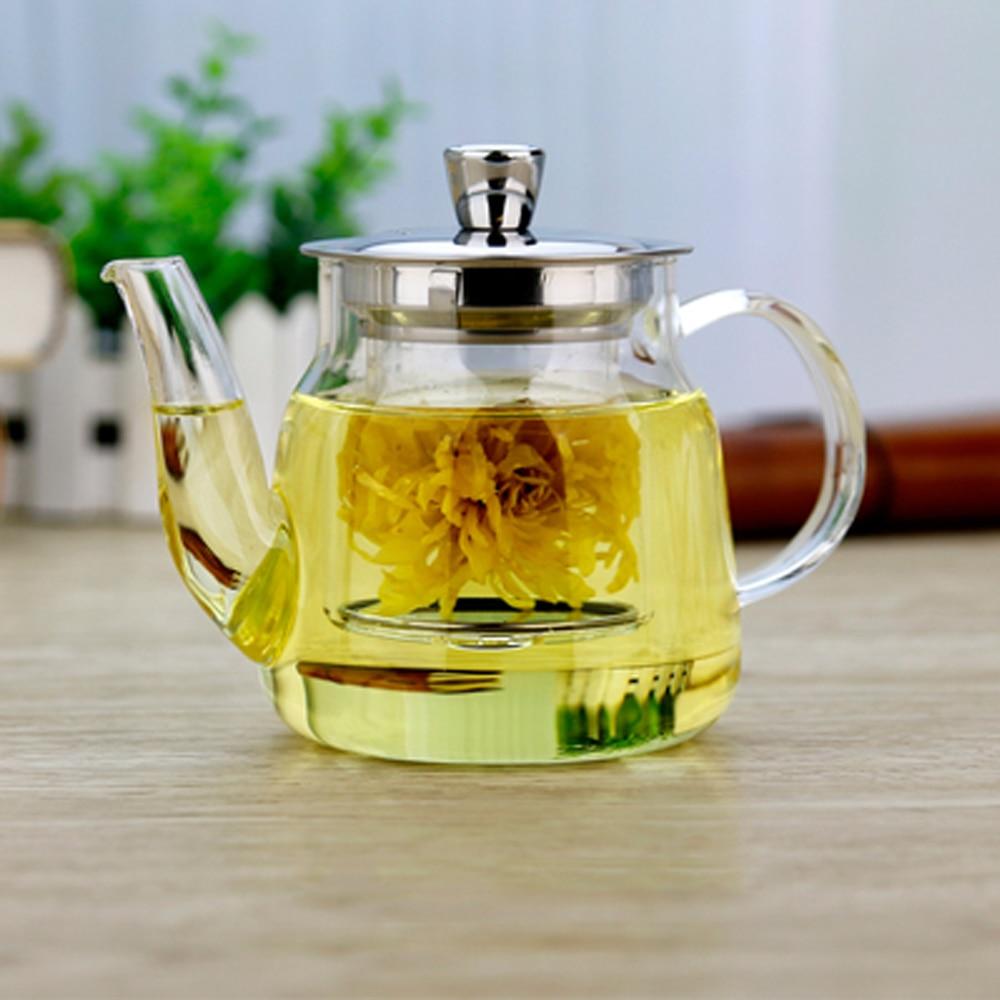 Pñfang-مصفاة زجاجية قابلة للتسخين ، 600 مللي ، غلاية شاي ، زهرة عشبية ، مرشح ، زجاجة مياه للاستخدام اليومي