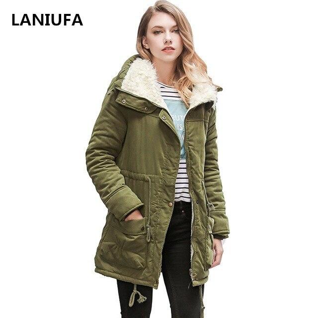 Mujeres Parka Casual Outwear otoño abrigo militar invierno cálido nieve chaqueta mujeres abrigos de piel Parka mujeres chaquetas de invierno Abrigos mujer