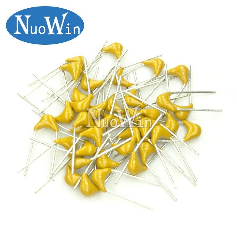 100 pces 50 v capacitor cerâmico multicamadas p = 5.08mm 47pf 47 p