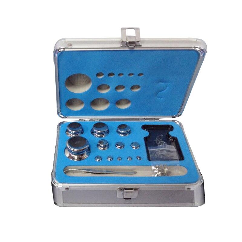 24 unids/set 1 mg-500g 304 conjunto de calibración de escala Digital de acero inoxidable Conjunto de pesas