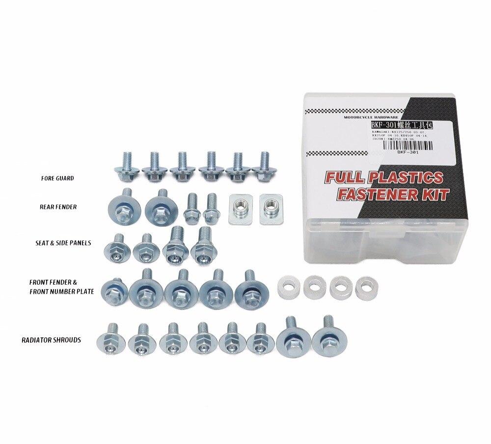Hardware Bolt La plásticos fijación Kit para Kawasaki KX250F KX450F KX125 KX250 RMZ250 estilo motocicleta Motocross bicicleta parte