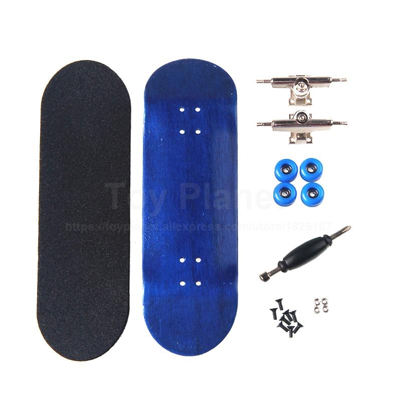Canadian Maple Royal Blue Finger Skateboard Birthday Gift Fingerboards Professional Wooden Finger Skate Boards Nickel Bearing