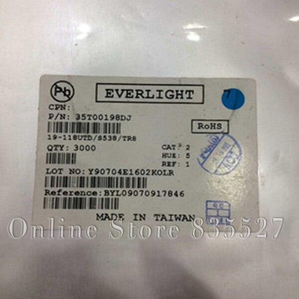 1000 unids/lote LED perlas de la lámpara 19-218UTF/S538/TR8 0603 1608 luz blanca 0,3 espesor EVERLIGHT LED Luz diodo emisor