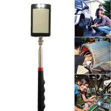 Poignée en caoutchouc fond de véhicule 360 degrés rotation télescopique détection Inspection miroir Amplification pliable poignée Led antidérapant